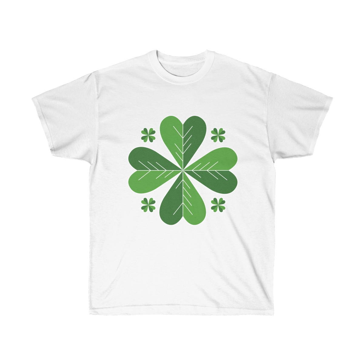 1781a1a67 Stylish Four Leaf Clover Unisex Ultra Cotton Tee T-Shirt St. Patrick's Day  Leprechaun